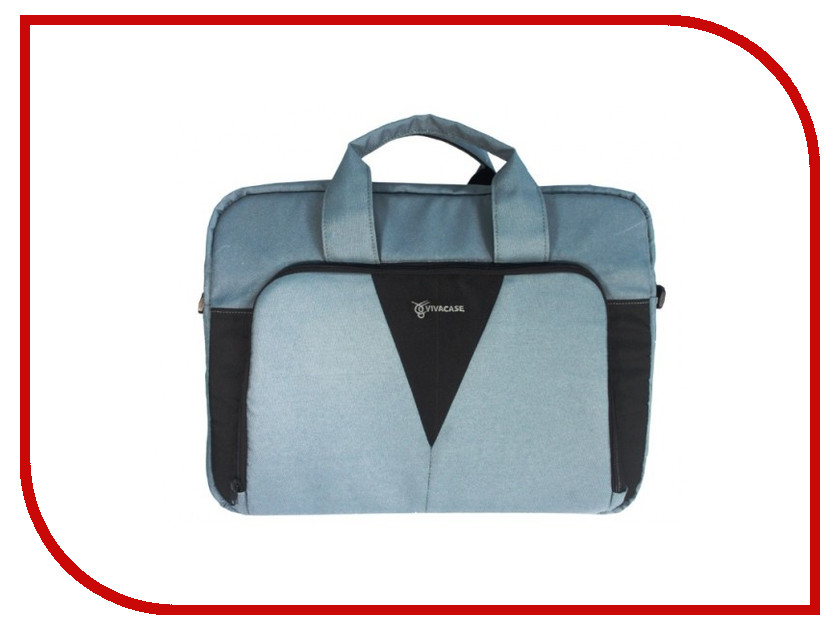 Аксессуар Сумка 15.6 Vivacase Casual Grey-Black VCN-CCS15-gr