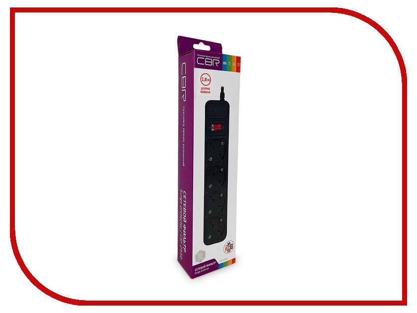 Сетевой фильтр CBR 4 Sockets 1.8m CSF 2450-1.8 Black CB