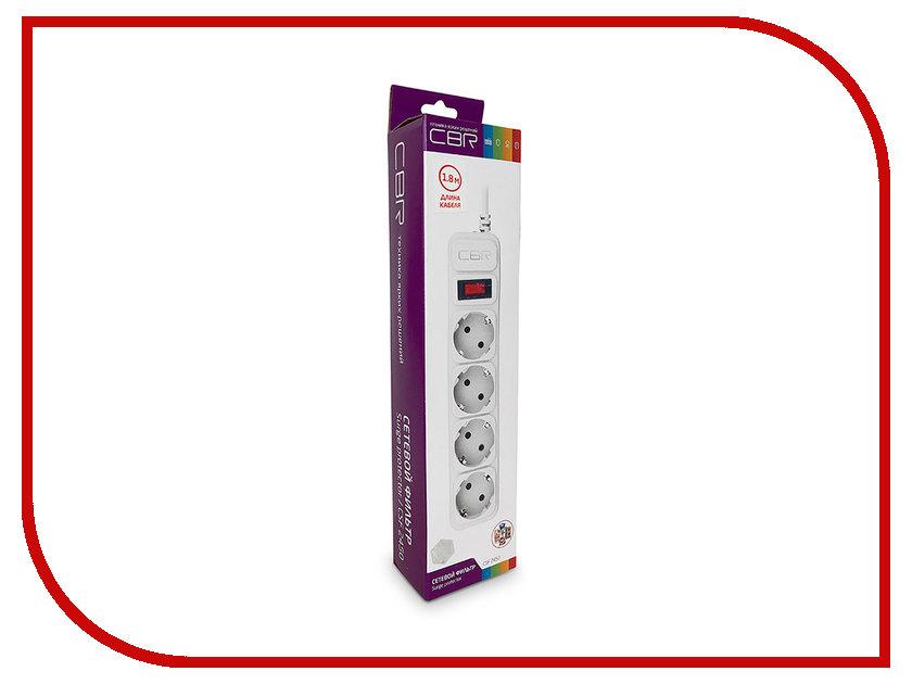 Сетевой фильтр CBR 4 Sockets 1.8m CSF 2450-1.8 White CB