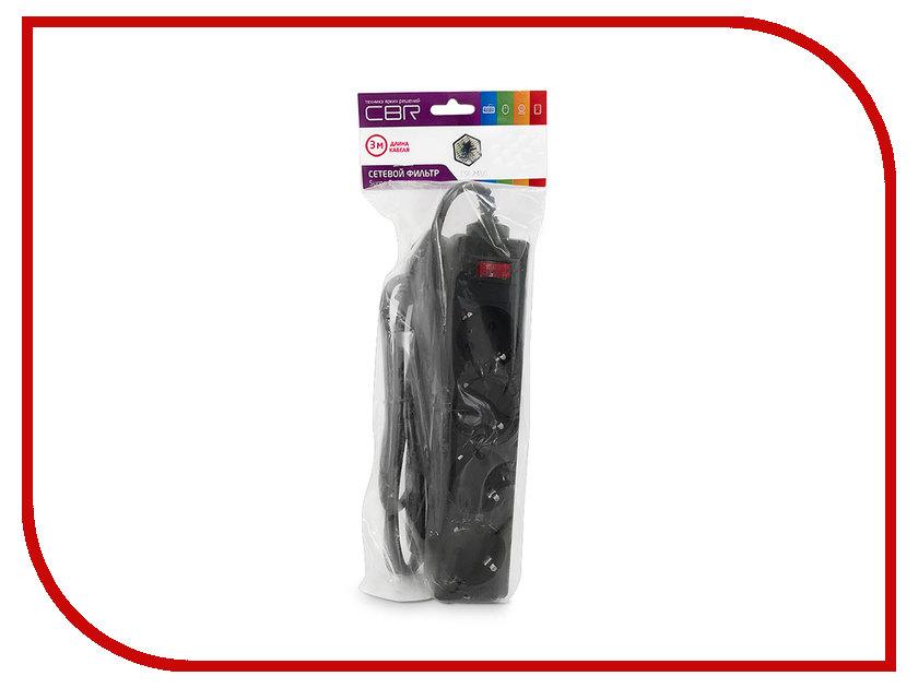 Сетевой фильтр CBR 4 Sockets 3m CSF 2450-3.0 Black PC