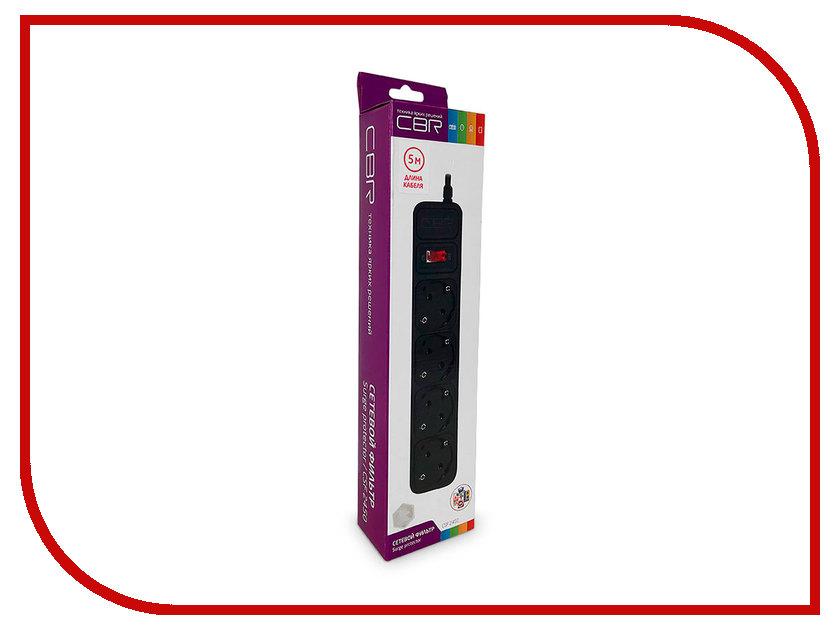 Сетевой фильтр CBR 4 Sockets 5m CSF 2450-5.0 Black CB