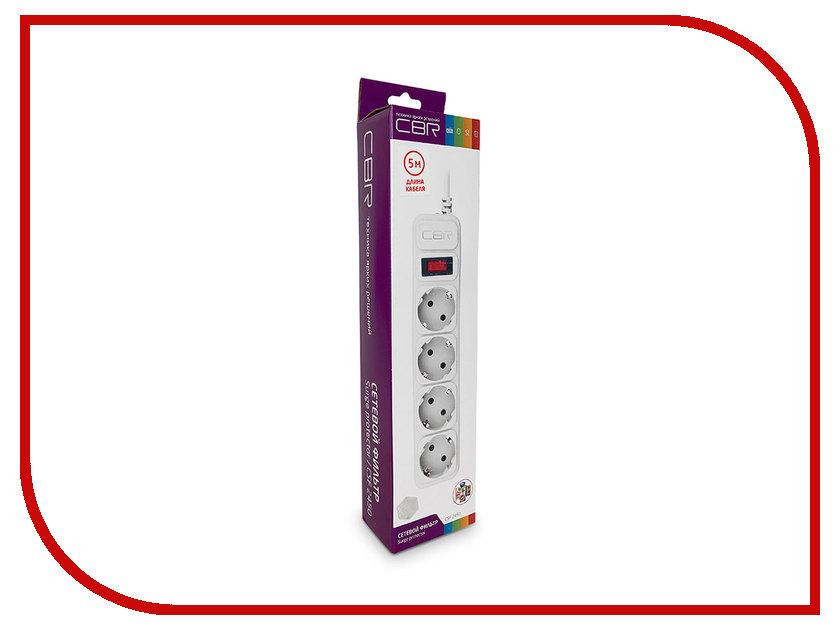 Сетевой фильтр CBR 4 Sockets 5m CSF 2450-5.0 White CB сетевой фильтр most rg 6 sockets 5m white 587278