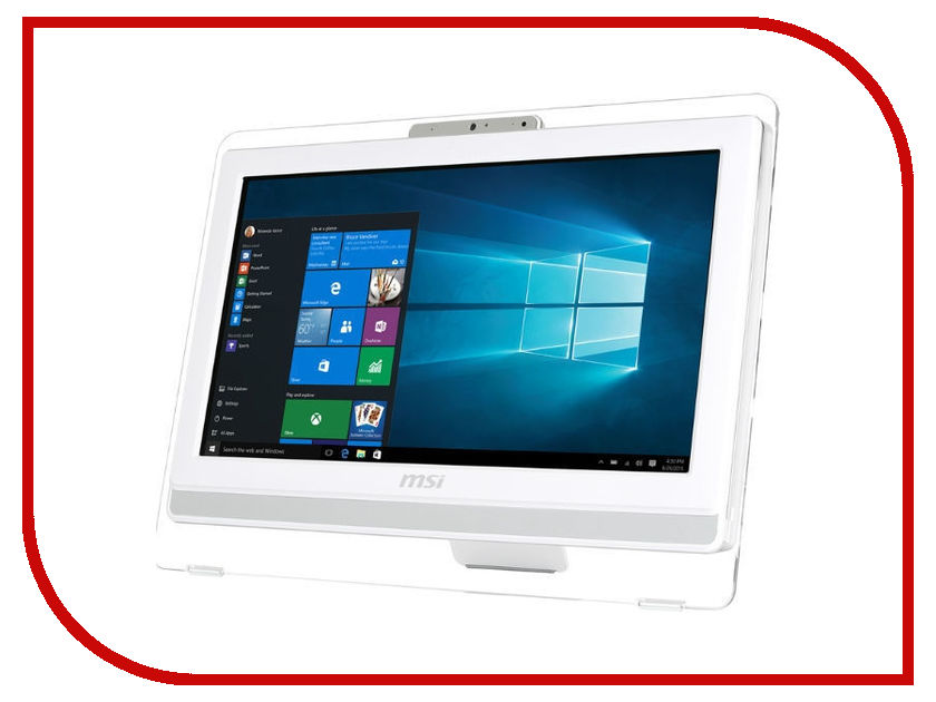 Моноблок MSI Pro 20ET 4BW-067RU White 9S6-AA8B12-067 (Intel Celeron N3160 1.6 GHz/4096Mb/1000Gb/DVD-RW/Intel HD Graphics/19.5/1600x900/Touchscreen/Windows 10 Home) ноутбук msi gs43vr 7re 094ru phantom pro 9s7 14a332 094