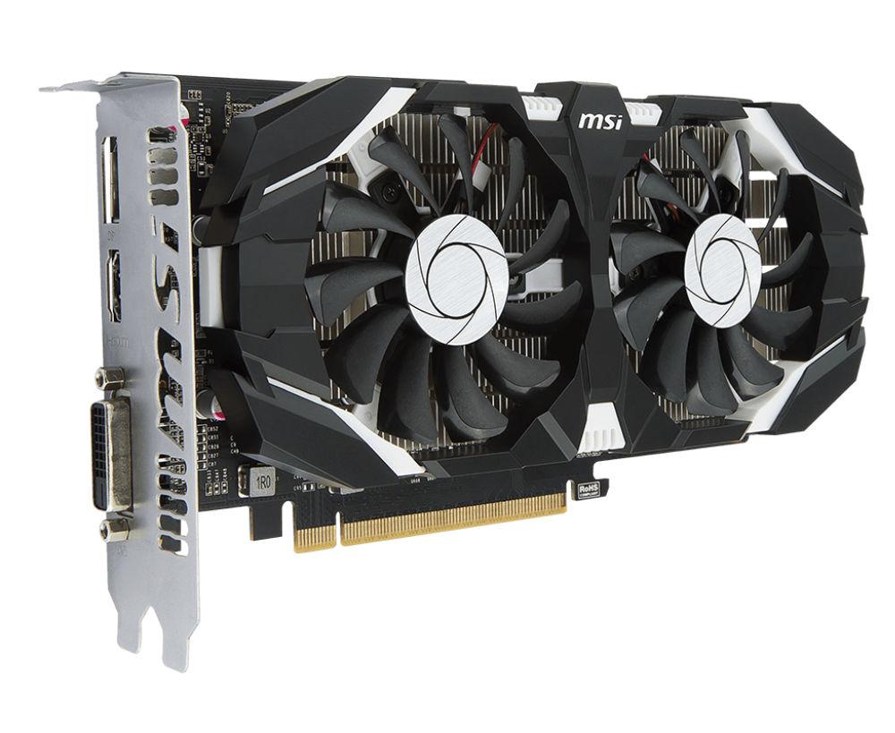 Видеокарта MSI GeForce GTX 1050 1404Mhz PCI-E 3.0 2048Mb 7008Mhz 128 bit DVI DP HDMI HDCP 2GT OCV1