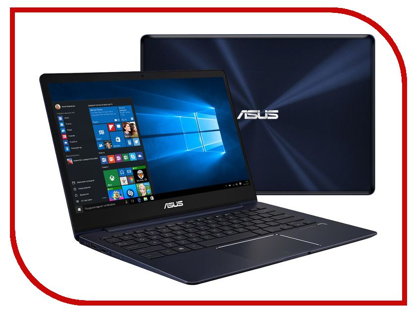 Ноутбук ASUS UX331UN Special Edition 90NB0GY1-M02330 (Intel Core i7-8550U 1.8 GHz/8192Mb/256Gb SSD/No ODD/nVidia GeForce MX150 2048Mb/Wi-Fi/Bluetooth/Cam/13.3/3840x2160/Touchscreen/Windows 10 64-bit)