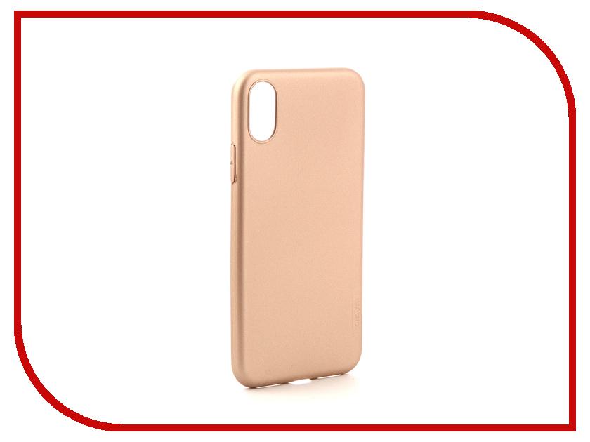 Аксессуар Чехол XLevel Guardian для APPLE iPhone X Gold 2828021