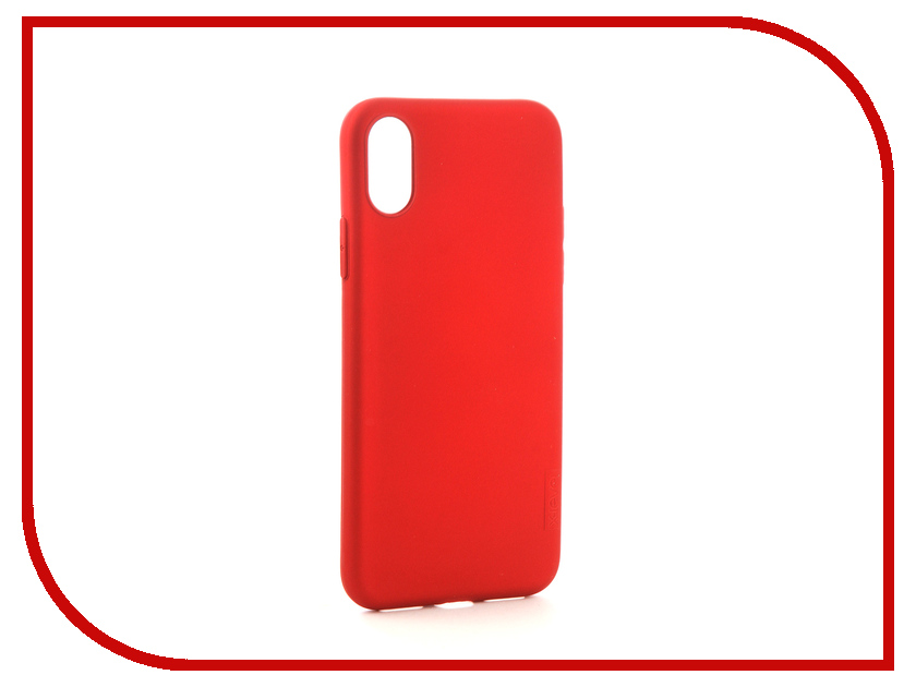 Аксессуар Чехол X-Level Guardian для APPLE iPhone X Red 2828-022 stylish aluminum alloy protective bumper frame set for iphone 4 4s black red