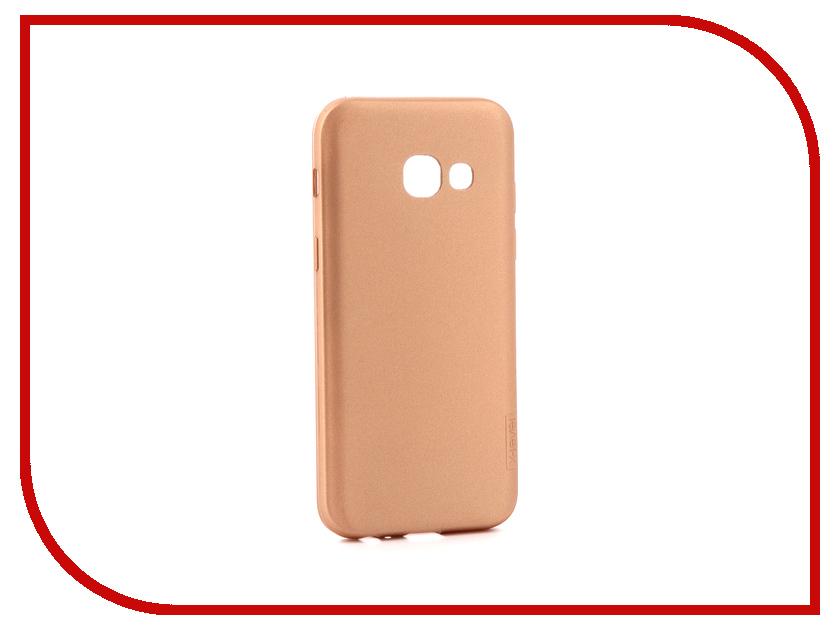 Аксессуар Чехол Samsung Galaxy A3 2017 X-Level Guardian Gold 2828-025 аксессуар защитное стекло samsung galaxy a3 2017 solomon full cover black
