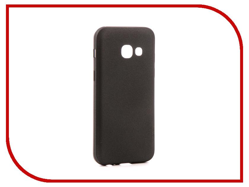 Аксессуар Чехол Samsung Galaxy A3 2017 X-Level Guardian Black 2828-026 аксессуар защитное стекло samsung galaxy a3 2017 solomon full cover black