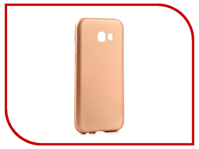 Аксессуар Чехол для Samsung Galaxy A5 2017 X-Level Guardian Gold 2828-027 аксессуар чехол для samsung galaxy a5 2017 onext silicone transparent 70513