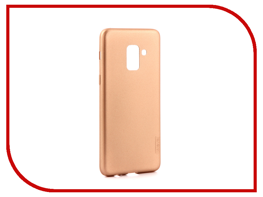 Аксессуар Чехол для Samsung Galaxy A8 2018 X-Level Guardian Gold 2828-031 аксессуар чехол samsung galaxy j5 2017 x level vintage beige 15435