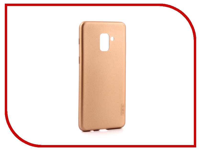 Аксессуар Чехол для Samsung Galaxy A8 Plus 2018 X-Level Guardian Gold 2828-033 аксессуар чехол samsung galaxy j5 2017 x level vintage beige 15435