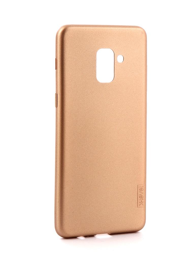 Аксессуар Чехол X-Level Guardian для Samsung Galaxy A8 Plus 2018 Gold 2828-033 аксессуар противоударное стекло для samsung galaxy a8 plus innovation 2d full glue cover gold 12818