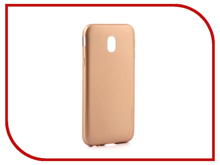 Аксессуар Чехол для Samsung Galaxy J3 2017 X-Level Guardian Gold 2828-035 аксессуар чехол samsung j3 2017 j330f zibelino clear view black zcv sam j330 blk