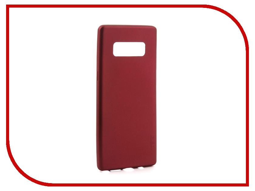 Аксессуар Чехол Samsung Galaxy Note 8 X-Level Guardian Burgundy 2828-043 чехол клип кейс samsung protective standing cover great для samsung galaxy note 8 темно синий [ef rn950cnegru]