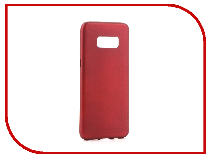 Аксессуар Чехол для Samsung Galaxy S8 X-Level Guardian Burgundy 2828-047 аксессуар чехол samsung galaxy j5 2017 x level vintage beige 15435