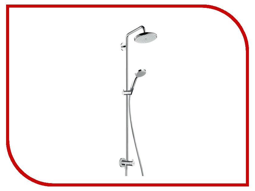 Душевая стойка Hansgrohe Croma 220 Showerpipe Reno 27224000 душевой гарнитур hansgrohe croma select e multi110 26590