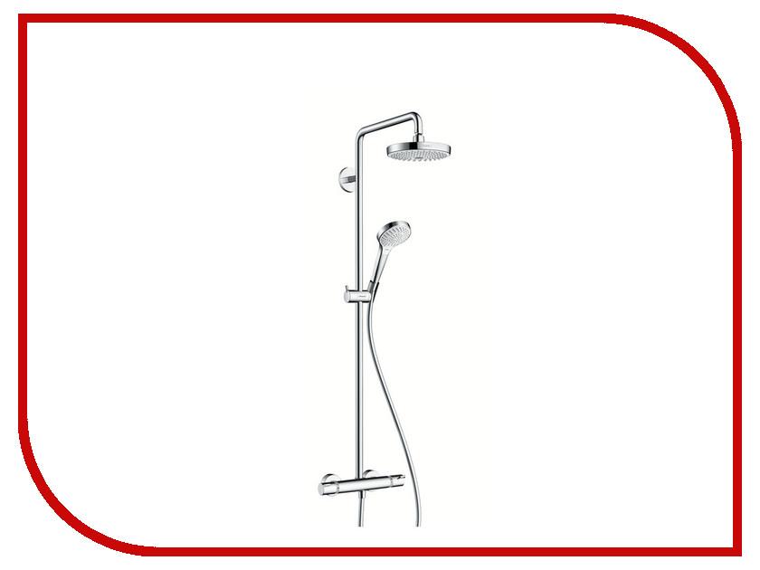 Душевая стойка Hansgrohe Croma Select S 180 2jet Showerpipe 27253400 душевой гарнитур hansgrohe croma select e multi110 26590