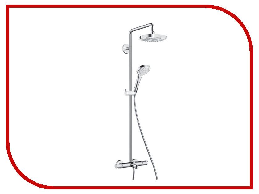 Душевая стойка Hansgrohe Croma Select E 180 2jet Showerpipe 27352400 hansgrohe croma select e 180 26524000 хром