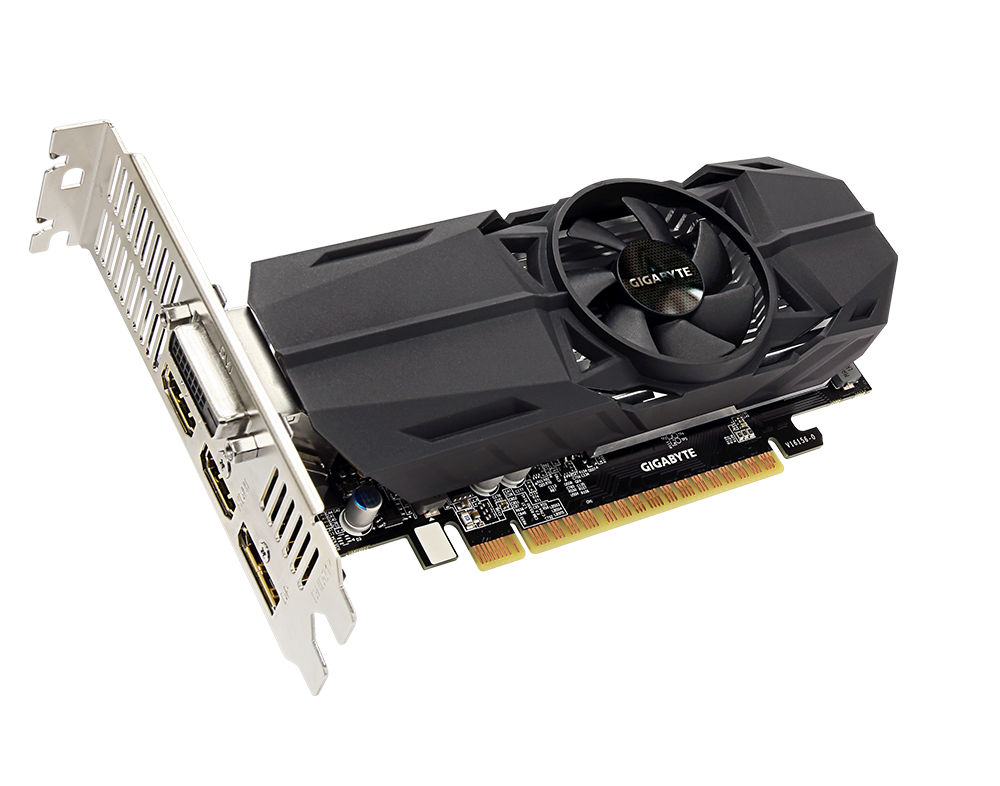 Видеокарта GigaByte GeForce GTX 1050 1366Mhz PCI-E 3.0 2048Mb 7008Mhz 128 bit DVI HDMI HDCP GV-N1050OC-2GL видеокарта gigabyte geforce gt 730 gv n730d5 2gl pci e 2048mb 64 bit retail