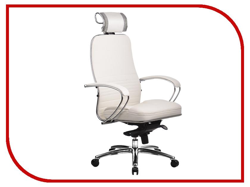 Компьютерное кресло Метта Samurai KL-2.02 White Swan с 3D подголовником