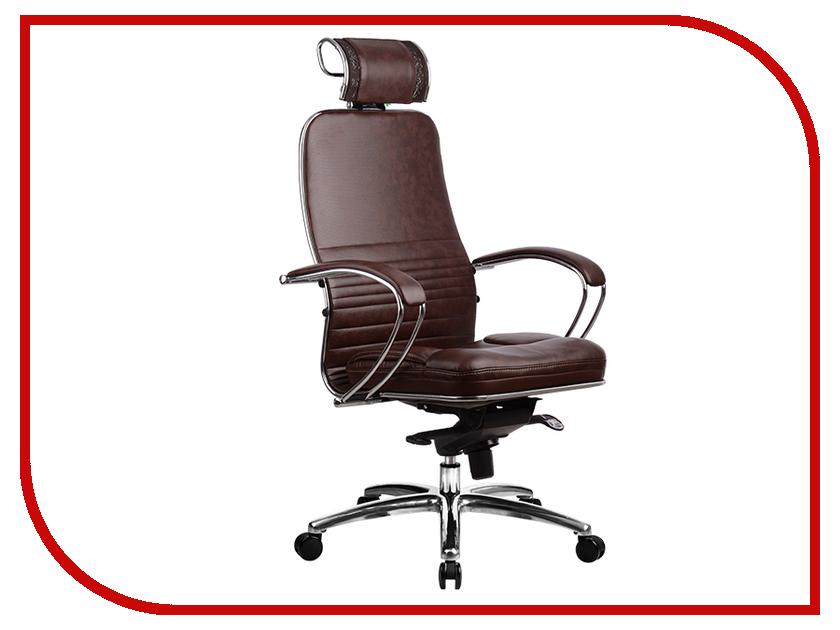 Компьютерное кресло Метта Samurai KL-2.02 Dark Brown с 3D подголовником