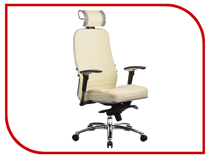 все цены на Компьютерное кресло Метта Samurai KL-3.02 Beige с 3D подголовником