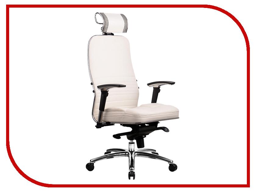 все цены на Компьютерное кресло Метта Samurai KL-3.02 White Swan с 3D подголовником