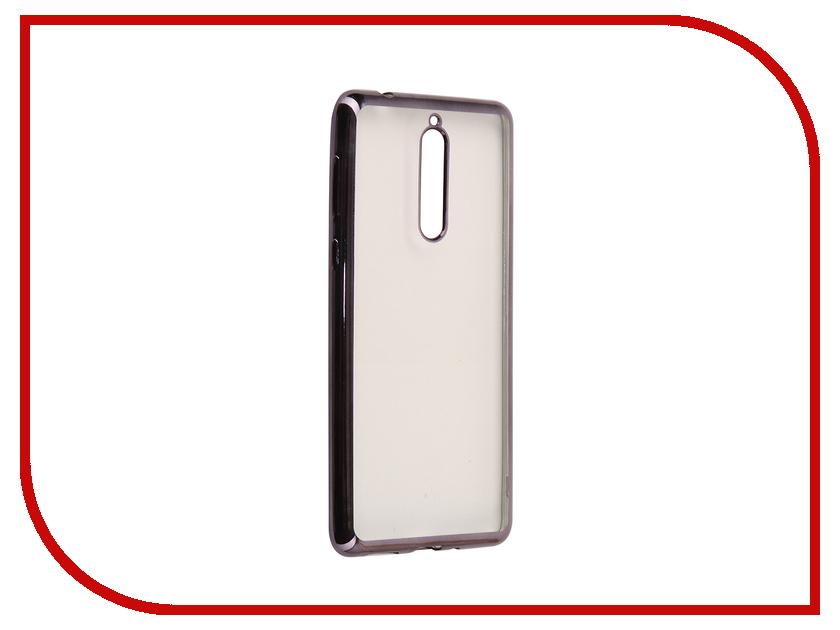Аксессуар Чехол для Nokia 8 Neypo Aura Silicone Grey Metallic NST3486 stylish protective silicone back case for iphone 5c grey