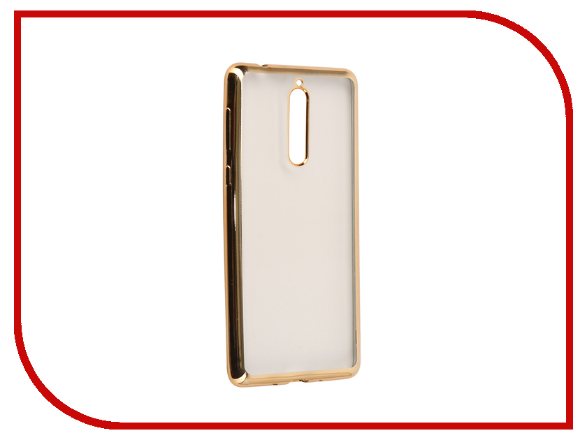 Аксессуар Чехол для Nokia 8 Neypo Aura Silicone Gold Metallic NST3483 8 colors 5 8 fold over elastic black with metallic gold diamond 50yards per lot