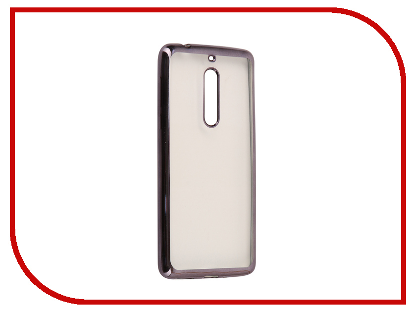 Аксессуар Чехол для Nokia 5 Neypo Aura Silicone Grey Metallic NST3479