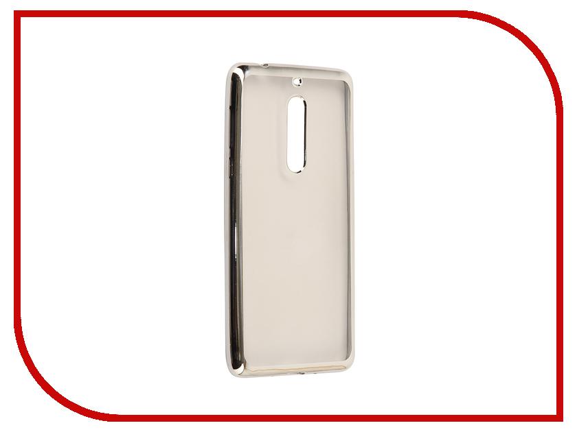 Аксессуар Чехол Nokia 5 Neypo Aura Silicone Silver Metallic NST3480 nokia 5