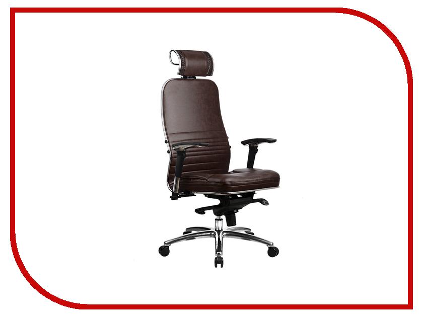 Компьютерное кресло Метта Samurai KL-3.02 с 3D подголовником Dark Brown samurai kl 3
