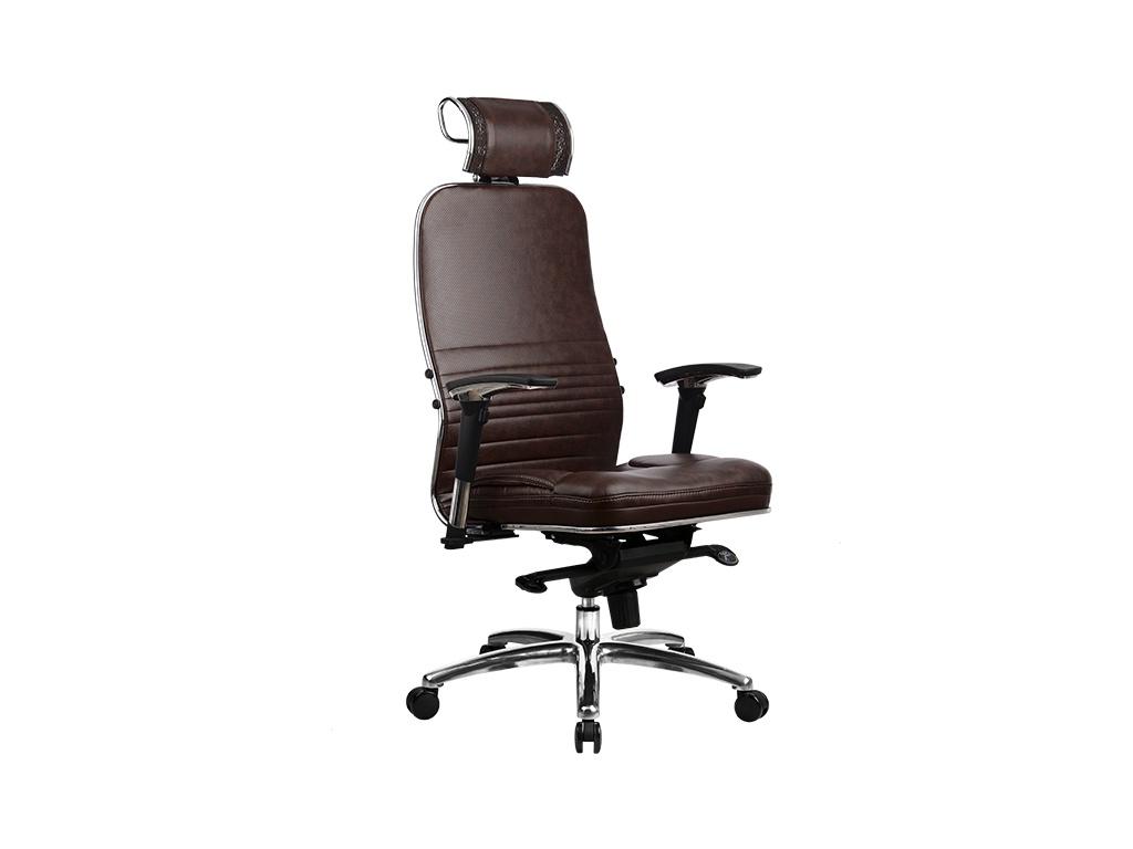 Компьютерное кресло Метта Samurai KL-3.03 Dark Brown с 3D подголовником