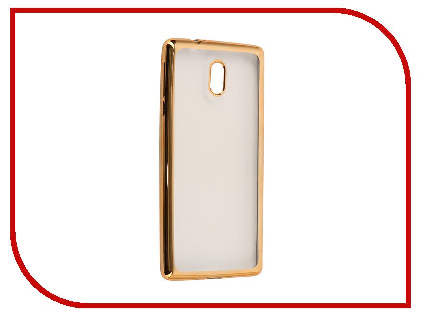 Аксессуар Чехол Nokia 3 Neypo Aura Silicone Gold Metallic NST3475 nokia 515 light gold