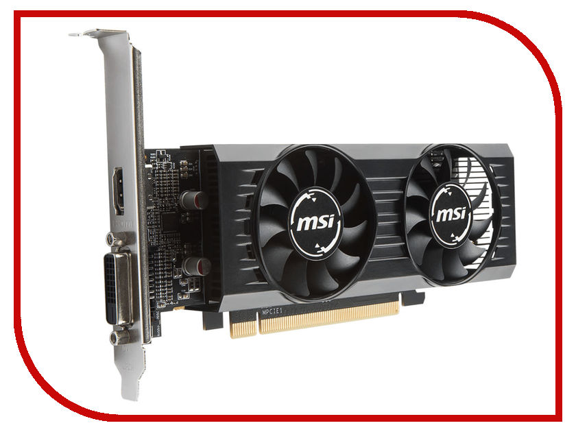 Видеокарта MSI Radeon RX 550 1203Mhz PCI-E 3.0 2048Mb 7000Mhz 128 bit DVI DP HDMI HDCP RX 550 2GT LP OC