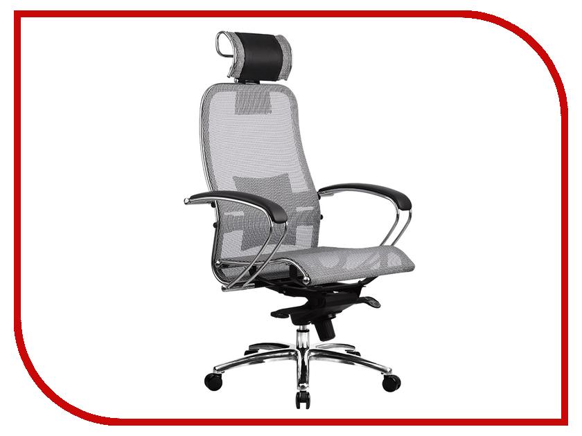 Компьютерное кресло Samurai S-2.02 Gray с 3D подголовником Метта 4665302681034
