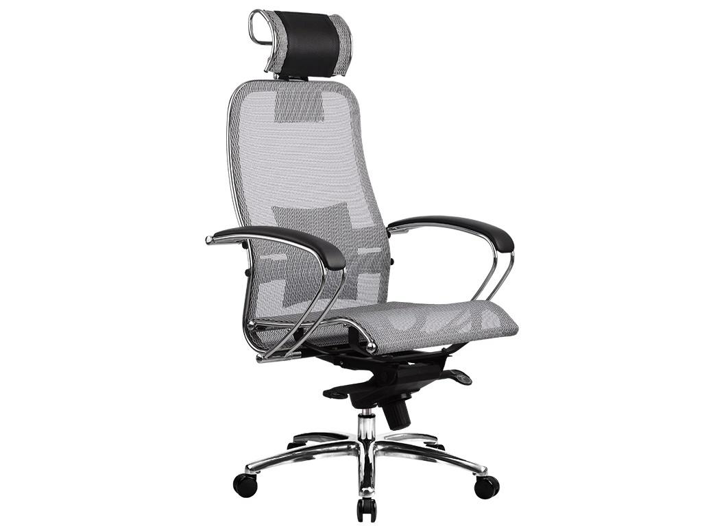 Компьютерное кресло Метта Samurai S-2.03 Gray с 3D подголовником