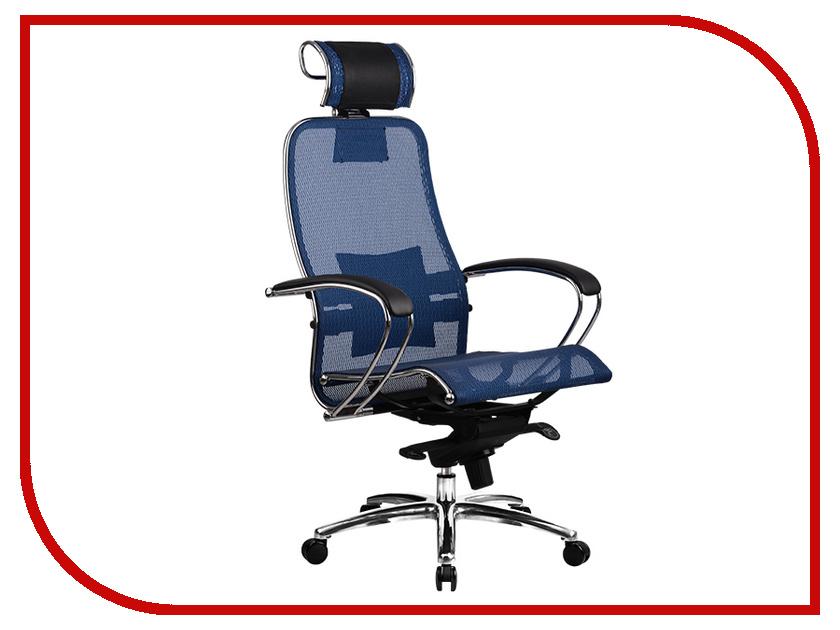 все цены на Компьютерное кресло Метта Samurai S-2.02 Blue с 3D подголовником