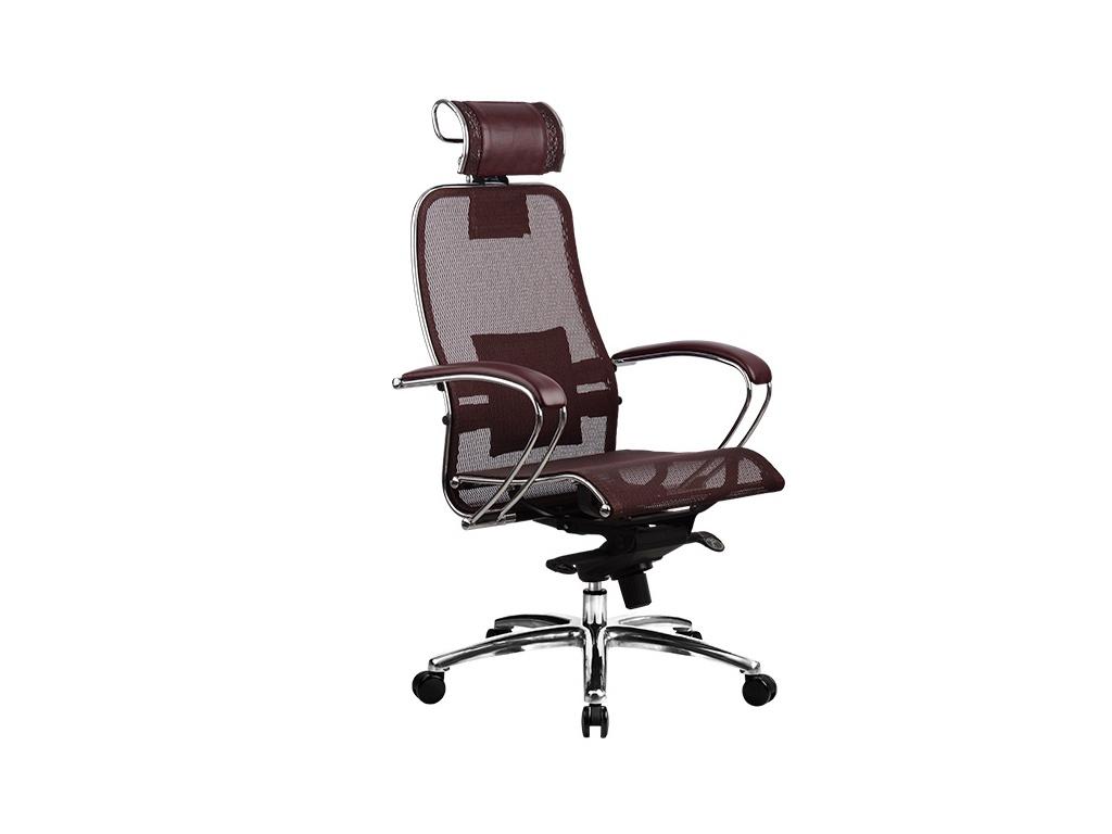 Компьютерное кресло Метта Samurai S-2.03 Dark Burgundy с 3D подголовником