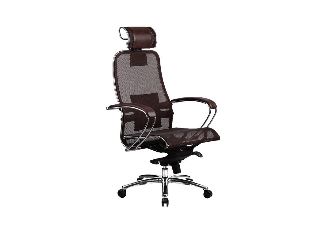 Компьютерное кресло Метта Samurai S-2.03 Dark Brown с 3D подголовником
