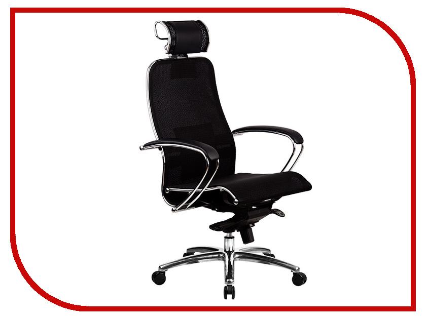 Компьютерное кресло Метта Samurai S-2.02 Black Plus с 3D подголовником