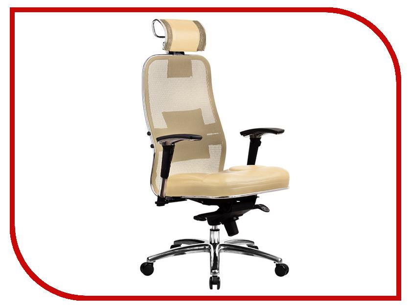 Компьютерное кресло Метта Samurai SL-3.02 Beige с 3D подголовником