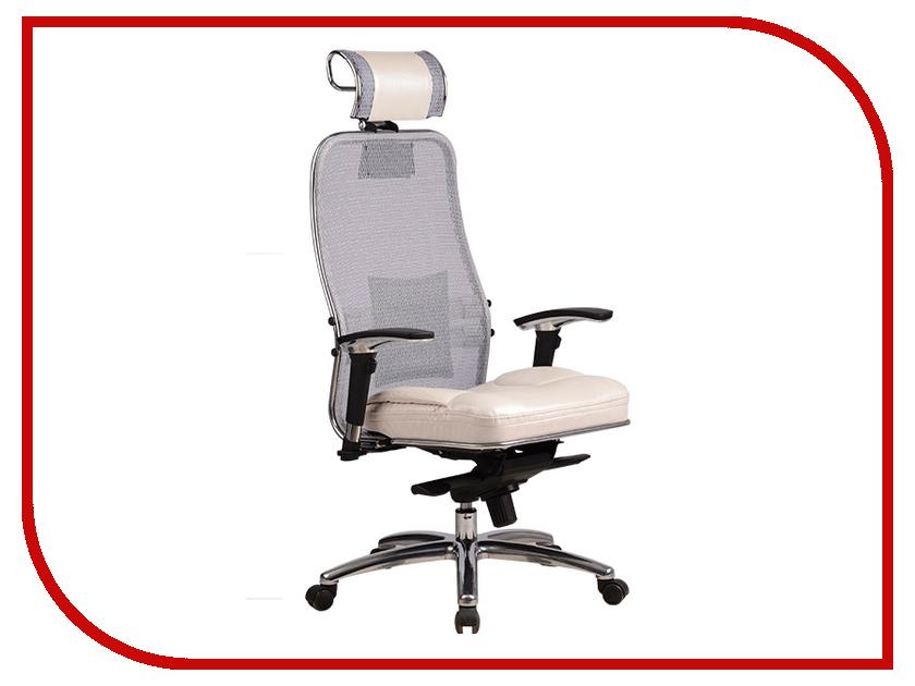 все цены на Компьютерное кресло Метта Samurai SL-3.02 White Swan с 3D подголовником