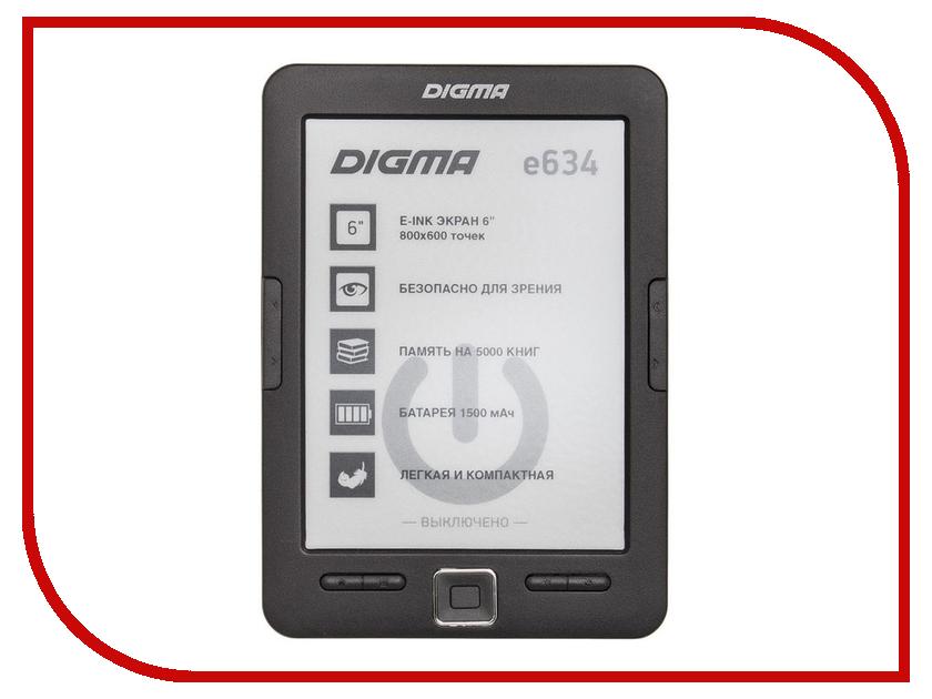 Электронная книга Digma E634 Black электронная книга digma r63s