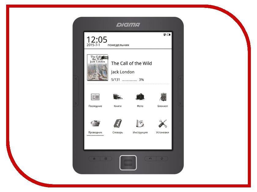 Электронная книга Digma E635 Grey электронная книга digma r63s