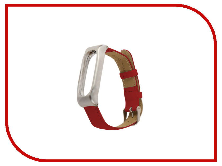 Aксессуар Ремешок Apres Mijobs Leather Strap for Xiaomi Mi Band 2 Red