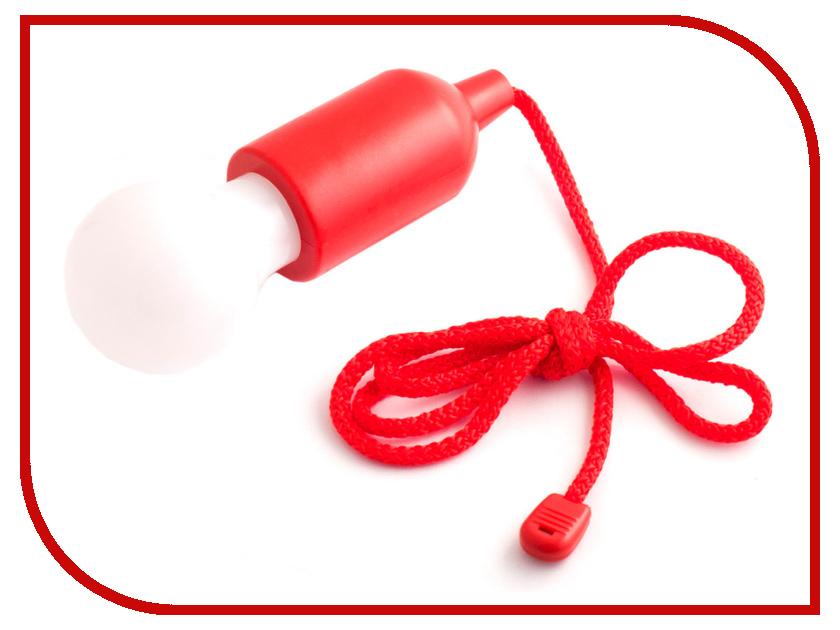 Светильник лампочка на веревочке Эврика 98276 Red фигурка есть такая профессия на работе сидеть эврика