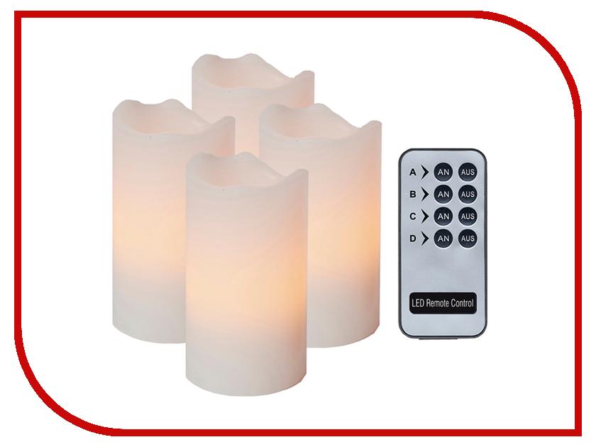 Светодиодная свеча Star Trading LED 4шт White 067-11