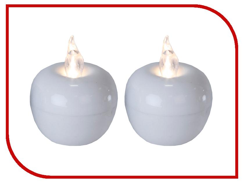 Светодиодная свеча Star Trading LED Яблоко мини 2шт White 067-10